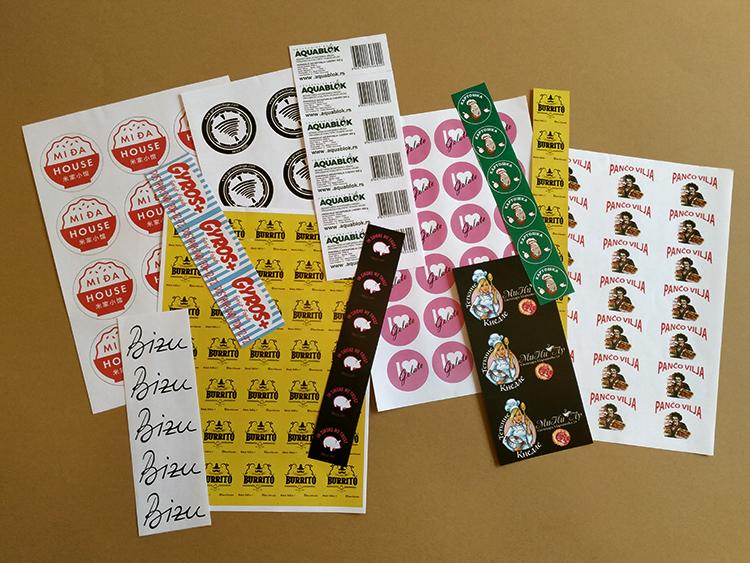 Stampa nalepnica - samolepljive etikete i deklaracije